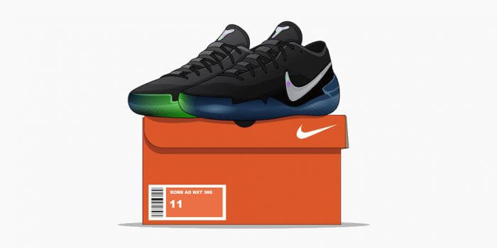 Sconto O Trova 2017 Nike Kobe A.D Sneaker Black Green Low
